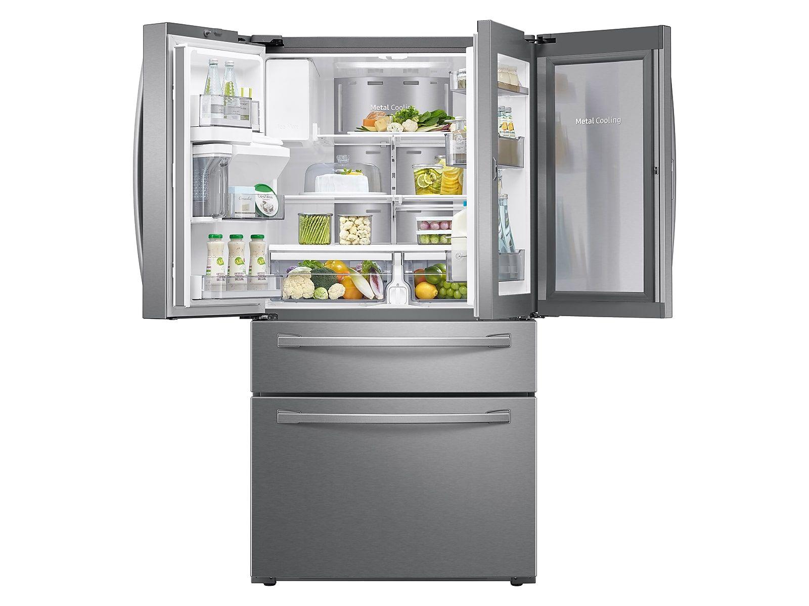 33 Inch Counter Depth Refrigerator Rf18hfenbsr Samsung Us French Door Refrigerator Counter Depth French Door Refrigerator Counter Depth Refrigerator