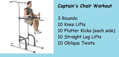 Quick Captain S Chair Workout Chair Exercises Workout Ab Workout Challenge