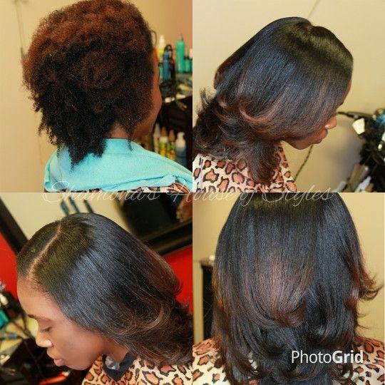 Shamona Dixon S Photo On Styleseat Houston Tx Natural Hair Blowout Silk Press Natural Hair Natural Hair Styles