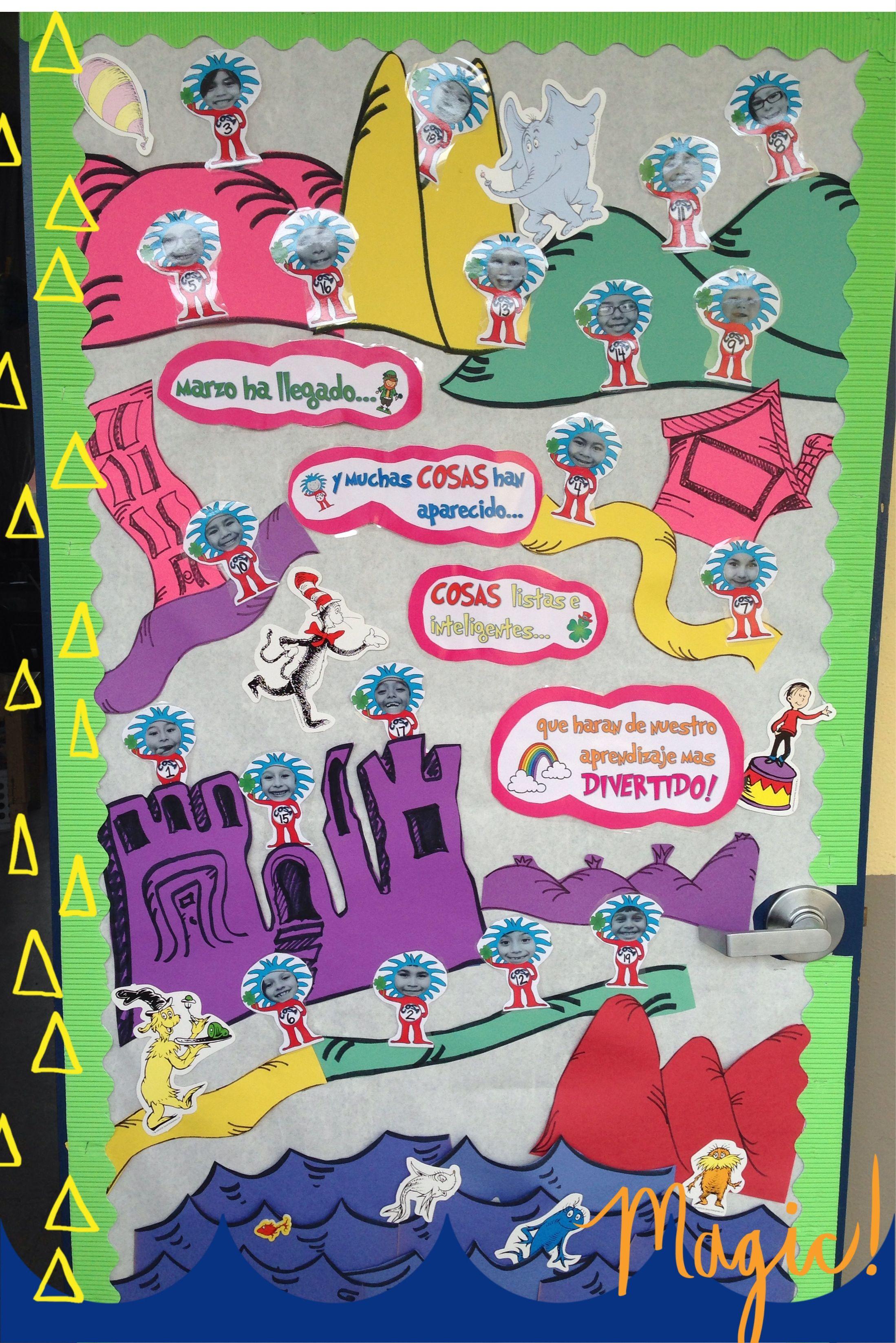 Dr Seuss Door Theme Decor For Spanish Classroom