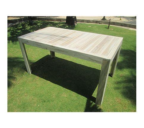 Gardenho.me Tisch Detroit 150 x 80 cm - Teakholz white wash