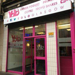 Yolo Frozen Yogurt Glasgow Scotland Frozen Yogurt Shops Frozen Yogurt Neon Signs Yogurt