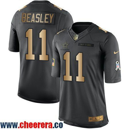 a8c6ca79a Mens Dallas Cowboys 11 Cole Beasley Anthracite Gold 2016 Salute To Service Stitched  NFL Nike Womens ...