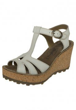 ccd6cd4b Fly London - GOLD - Wedge sandals - off white | Things to get ...