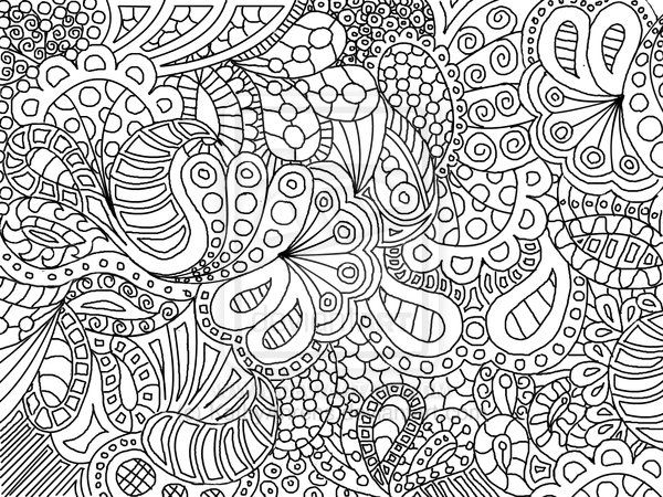 fun to color zentangle paisley doodle drawing by kathyahrens on deviantart abstract doodle zentangle paisley coloring pages colouring adult detailed - Abstract Coloring Pages For Adults
