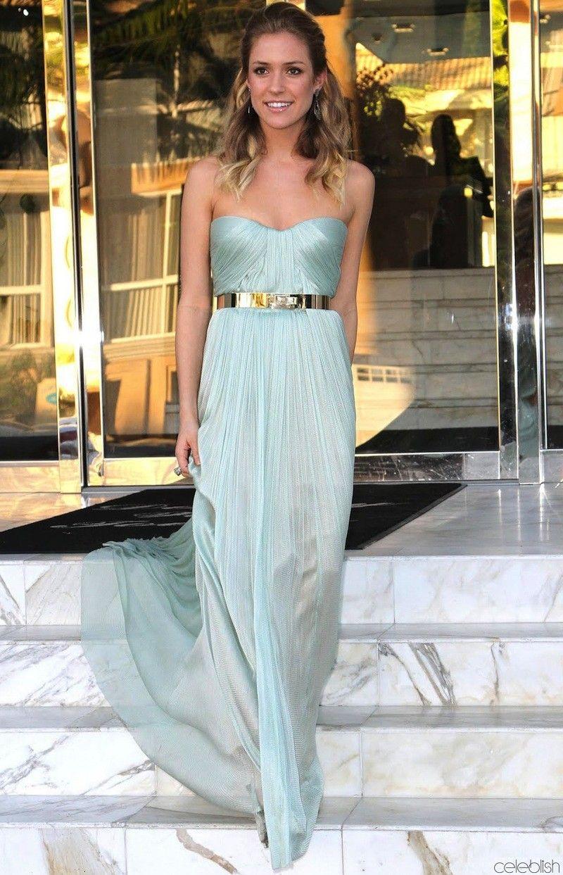 Kristin Cavallari Light Blue Prom Dress at Marine Corps ...