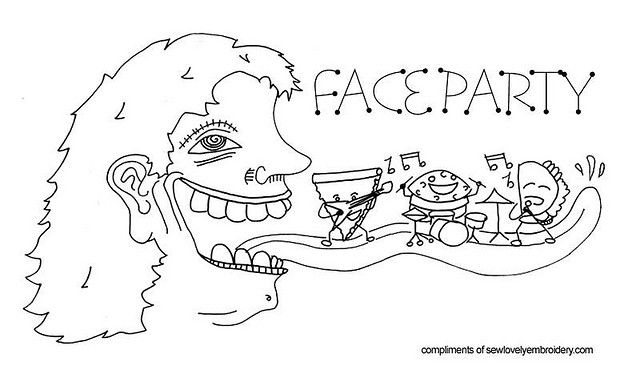 Face Party FREE pattern by SewLovelyEmbroidery, via Flickr