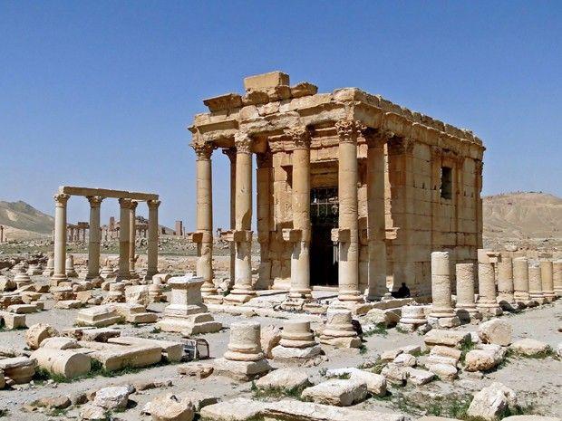 Templo de Baalshamin, em Palmira, na Síria, em foto de 2010  - Destruído pelo EI
