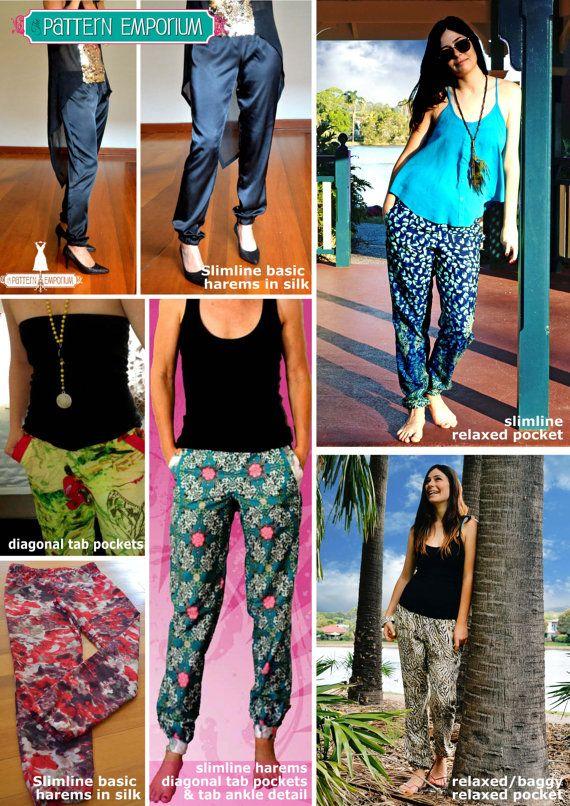 PATTERN : HAREMS - Ladies Harem Pants - Jogger- Lounge Pants - PDF ...