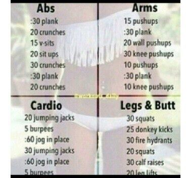 Abs Arms Butt Cardio Fitness Legs Motivation Workout