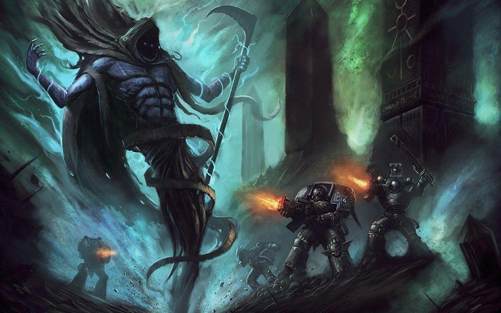 Necrons Warhammer 40k Reaper Wallpaper 2686310 Wallbase Cc Warhammer Warhammer 40k Artwork Space Marine Art