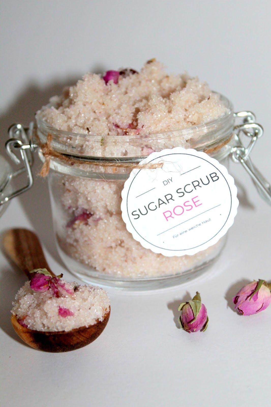diy sugar scrub zuckerpeeling rose free printable selbermachen geschenke k rperpeeling. Black Bedroom Furniture Sets. Home Design Ideas