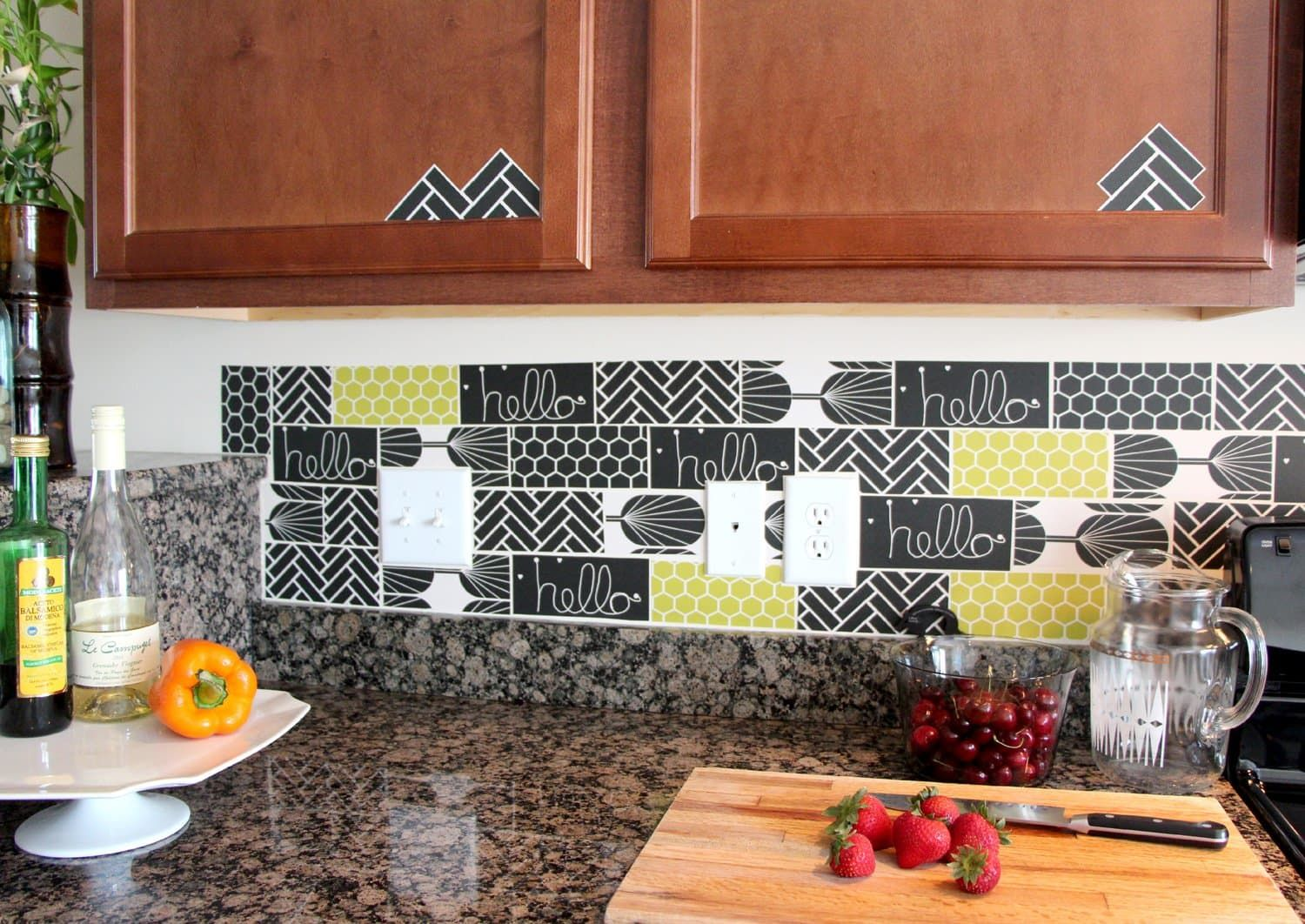 15 Ideas For Removable, DIY Kitchen Backsplashes U2014 Renters Solutions