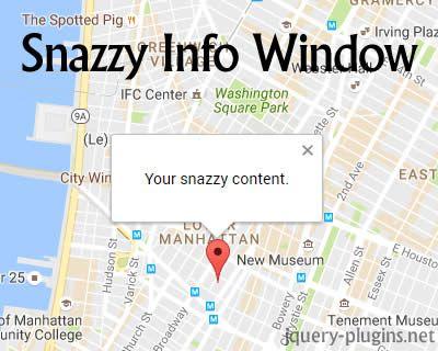 Snazzy Info Window – Customizable Info Windows using Google