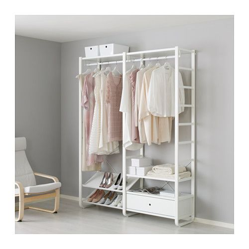Open Bedroom Storage: IKEA ELVARLI 2 Sections White 165x40x216 Cm You Can Always