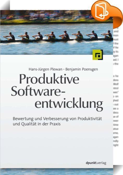 Produktive Softwareentwicklung    ::  Dieses Buch stellt Standards und den 'State of the Art' in der produktivitätsorientierten Steuerung und Durchführung von Softwareentwicklung dar. Praxiserprobte Verfahren zur Bewertung und Verbesserung der Produktivität in Softwareprojekten werden beschrieben und die Rahmenbedingungen und Erfolgsfaktoren aufgezeigt, unter denen Projekte und Teams produktiv sein können. Der Leser erfährt, wo in der Praxis die typischen 'Produktivitätsbremsen' zu fin...