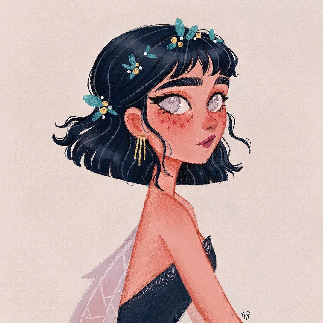 "?Ana Paula Azevedo? on Instagram: ""My take on @aureliengalvan 's dtiys challenge❤️ Such a beautiful character ❤️ . #aureliengalvan4k #desenhenoseuestilo #dtiys…"" - Reshira Sarizin"