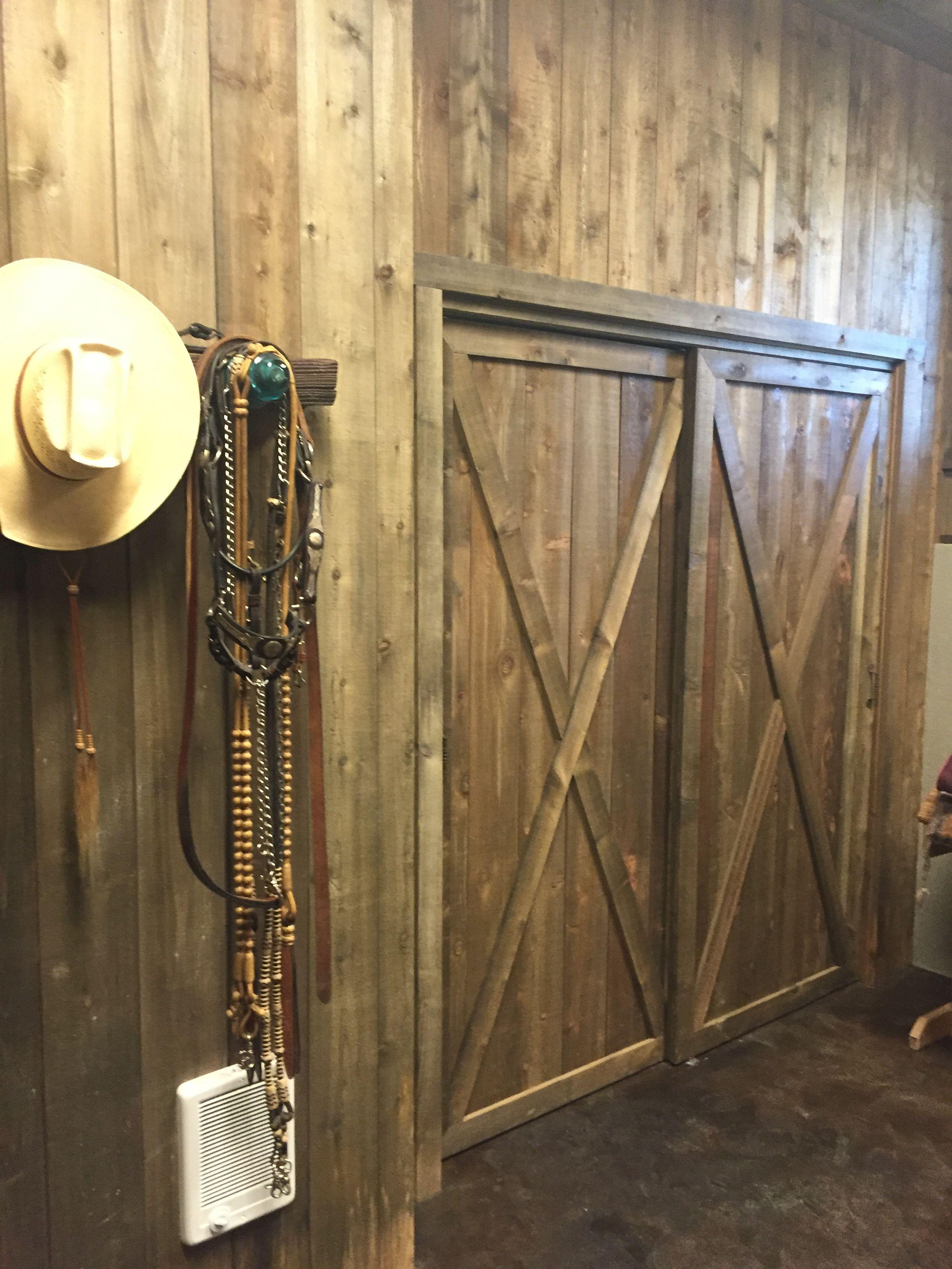 A Really Great Project From Vicki Bass She Used Our 1x8 Cedar Shiplap To Make Her Barn Look Like A Million Bucks Check Cedar Siding Cedar Shiplap Diy Shiplap