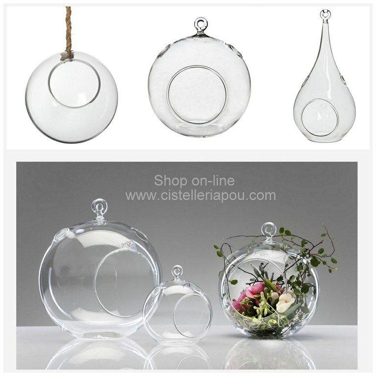 Esfera colgante de cristal l grima para colgar de cristal for Adornos colgar pared