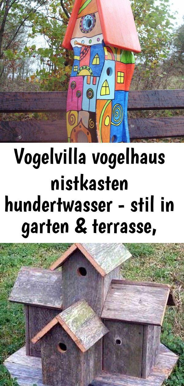 Vogelvilla Vogelhaus Nistkasten Hundertwasser Stil In Garten Terrasse Dekoration Vogelhauser 5 Bird House Decor Outdoor Decor