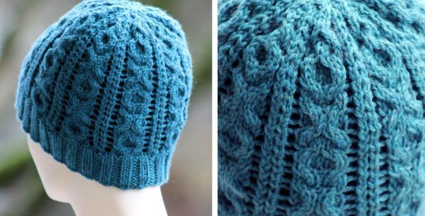 XOXO Cable Knitted Beanie [FREE Knitting Pattern ...