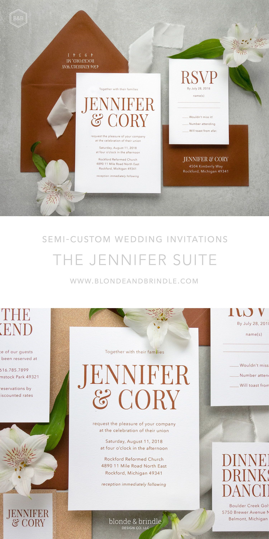 The Jennifer Wedding Invitation Is Chic Sophisticated And Bold Immediately Capt Wedding Invitations Bold Wedding Invitations Contemporary Wedding Invitations