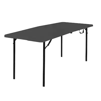 Cosco 29 6 In X 72 In Indoor Rectangle Resin Black Folding Table Lowes Com Folding Table Resin Table Top Table