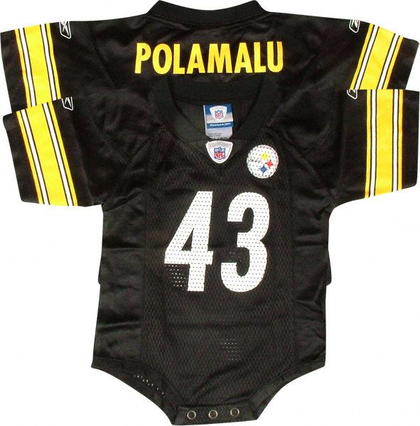 1a8dad13180 Troy Polamalu Pittsburgh Steelers Black Infant NFL Jersey-- baby Carey  would have the same