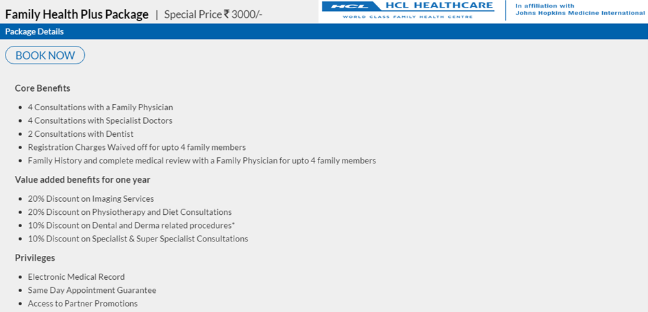 Get essential and affordable family checkup packages at