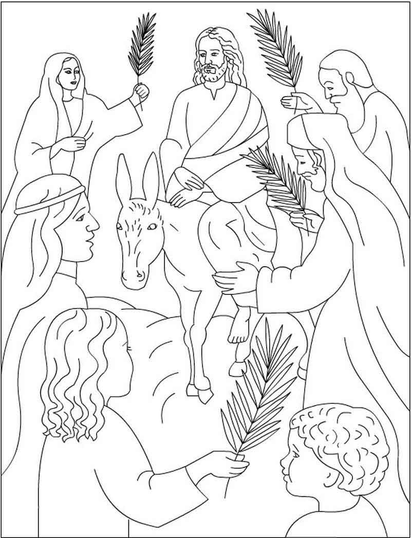 Jesus Palm Sunday Coloring Pages Paskah Untuk Anak Anak