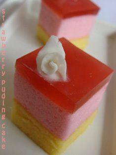 Puding Week Ncc Strawberry Puding Cake Rifda Makanan Manis Makanan Penutup Kue Pelangi