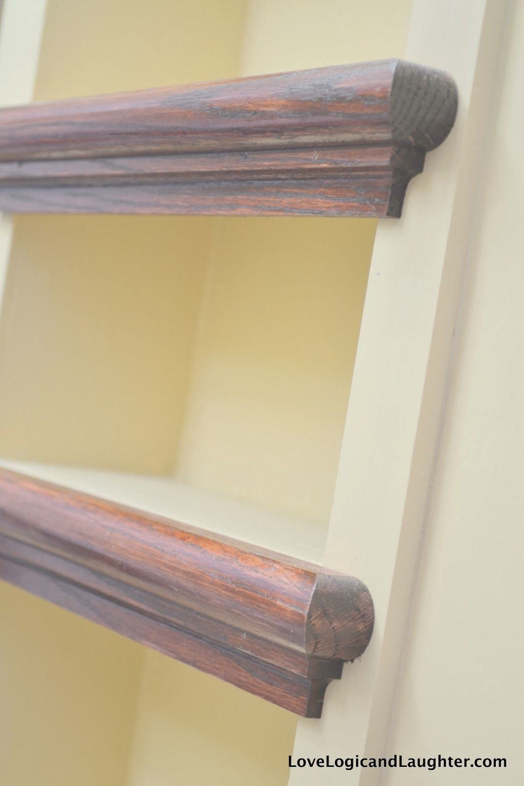Using Stair Tread Nosing as Finishing Trim on Built-in Shelves ...