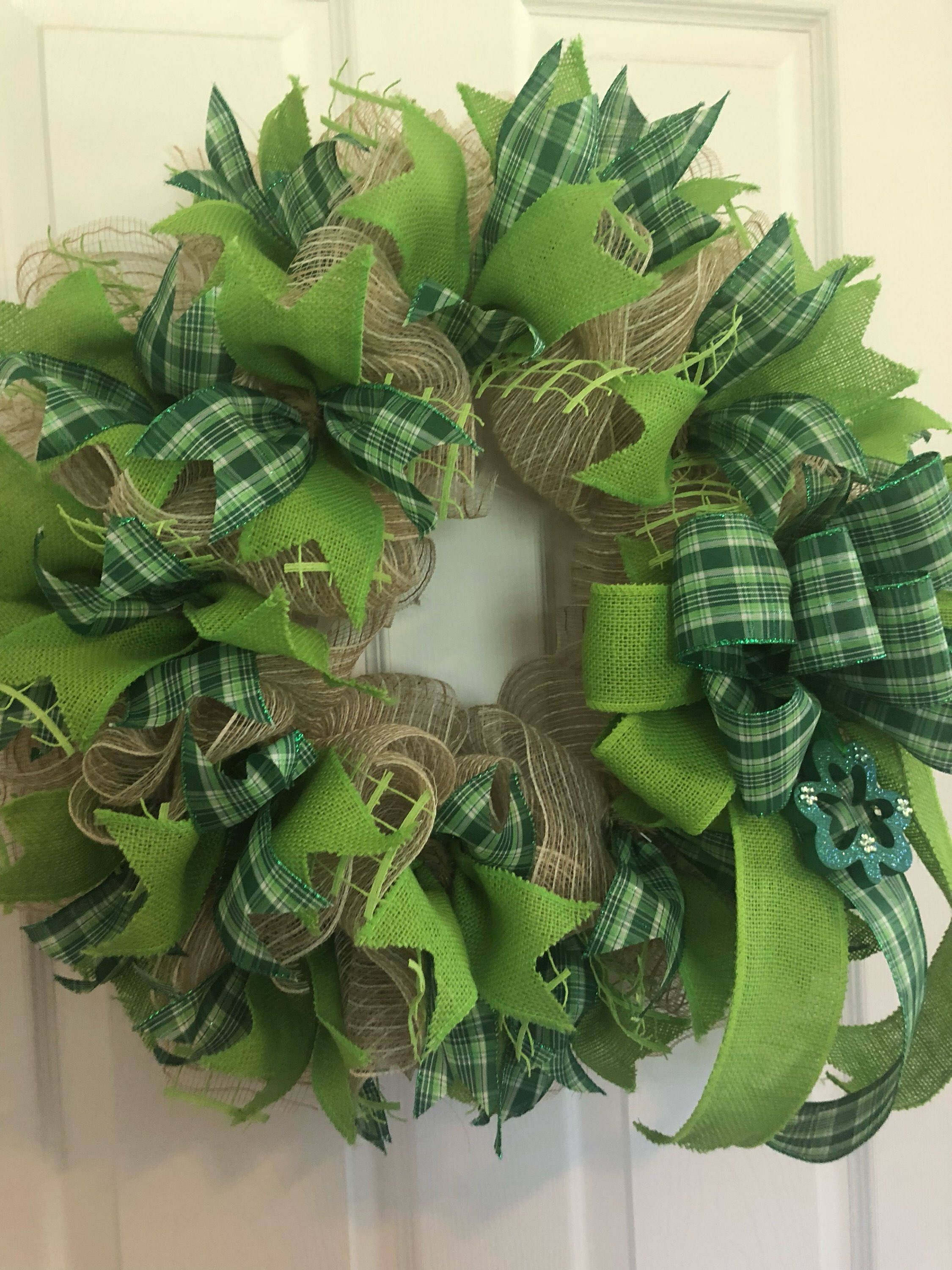 St Patricks Day Wreath Dollar Stores Front Doors