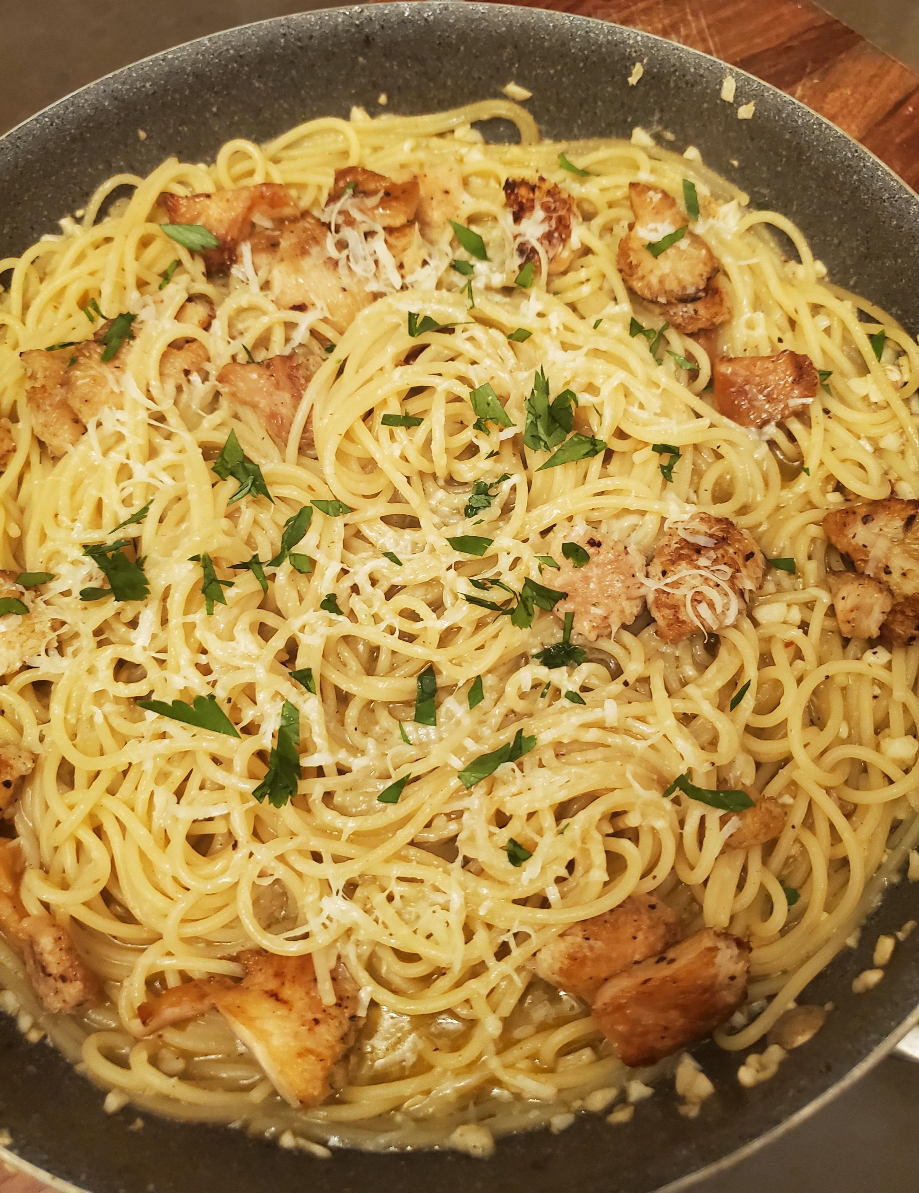 "Vegan ""Shrimp"" Scampi with Lion's Mane Mushrooms. Why make"
