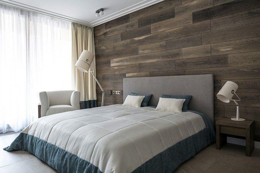Wood Plank Walls Bedroom