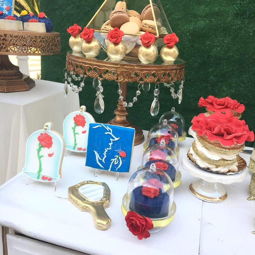 Belle Beauty And The Beast Bridal Wedding Shower Party Ideas