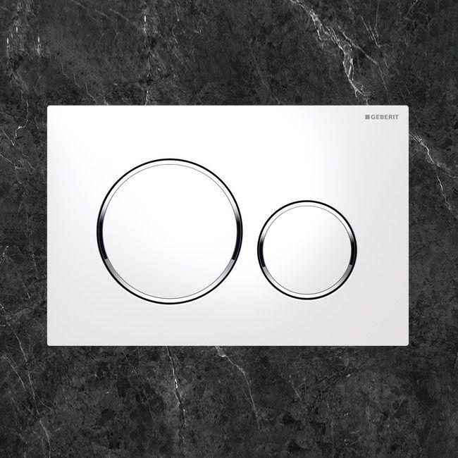 Geberit Sigma20 Betätigungsplatte für 2-Mengen-Spülung weiß\/chrom - badezimmer ideen wei