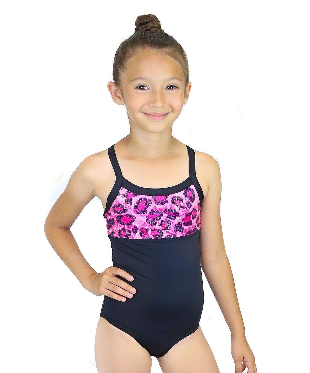 5c46b8cec8 Black   Pink Leopard Leotard - Girls