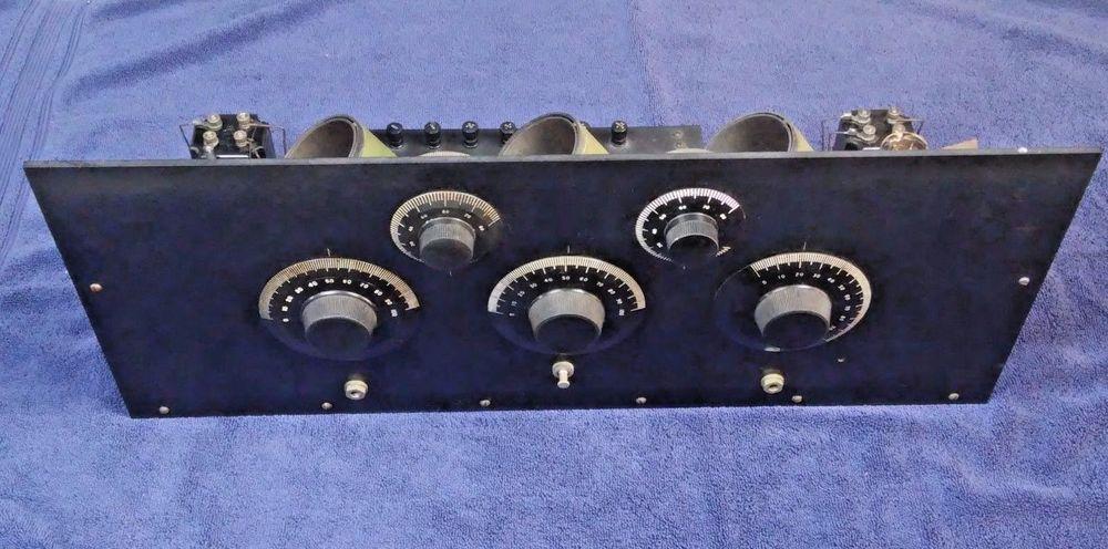 1920's TRF Receiver Radio Kit Fada Parts Cunningham tubes