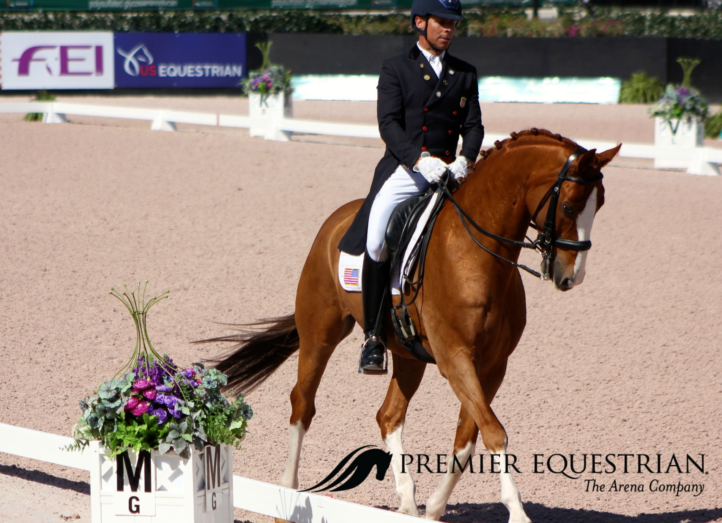 """""""The stability, traction, resilience, and cushion are all important factors in having footing that can stand up to our expectations. The footing we use from Premier Equestrian has exceeded all of those expectations."""" - Premier Equestrian Steffen Peters on Bailarino at the @Adequan Global Dressage Festival #AGDF2017"""