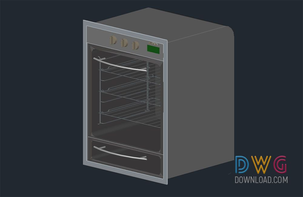 Oven 3d Autocad Drawings And About Kitchen Appliances Cad Blocks