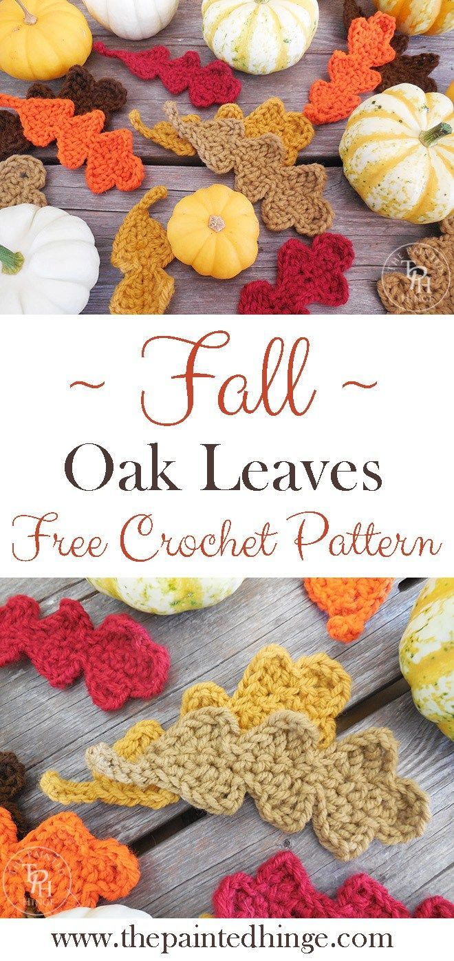 Fall oak leaves free crochet pattern oak leaves crochet fall oak leaves free crochet pattern bankloansurffo Image collections