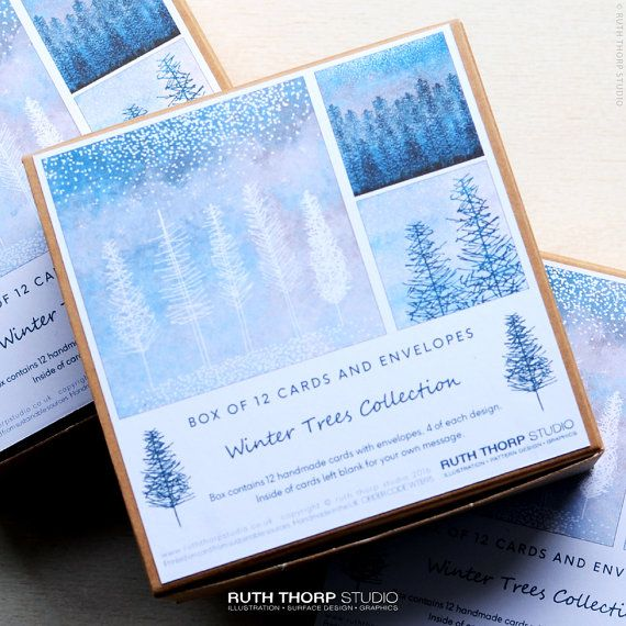 Christmas cards box of 12 cards winter trees by ruth thorp studio christmas cards box of 12 cards winter trees by ruth thorp studio greeting cards m4hsunfo