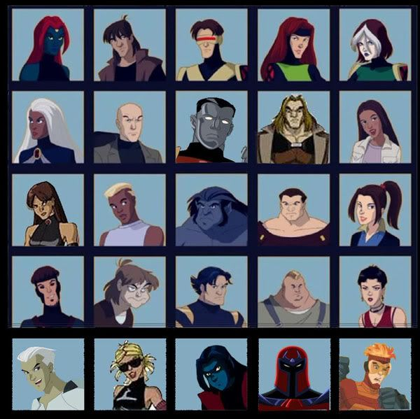 X-Men Characters Villains | This picture has most of the x ...X Men Evolution Villains