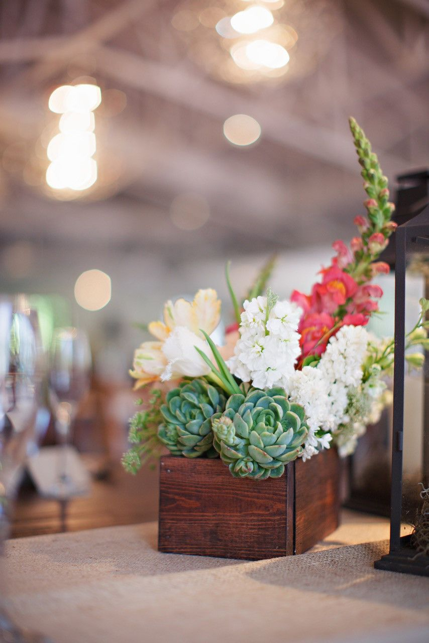 23 Ways to Arrange Red Wedding Centerpieces is part of Succulent Table decor - Get romantic inspiration for your reception decorations, featuring flowers like roses and peonies and colors like burgundy and crimson