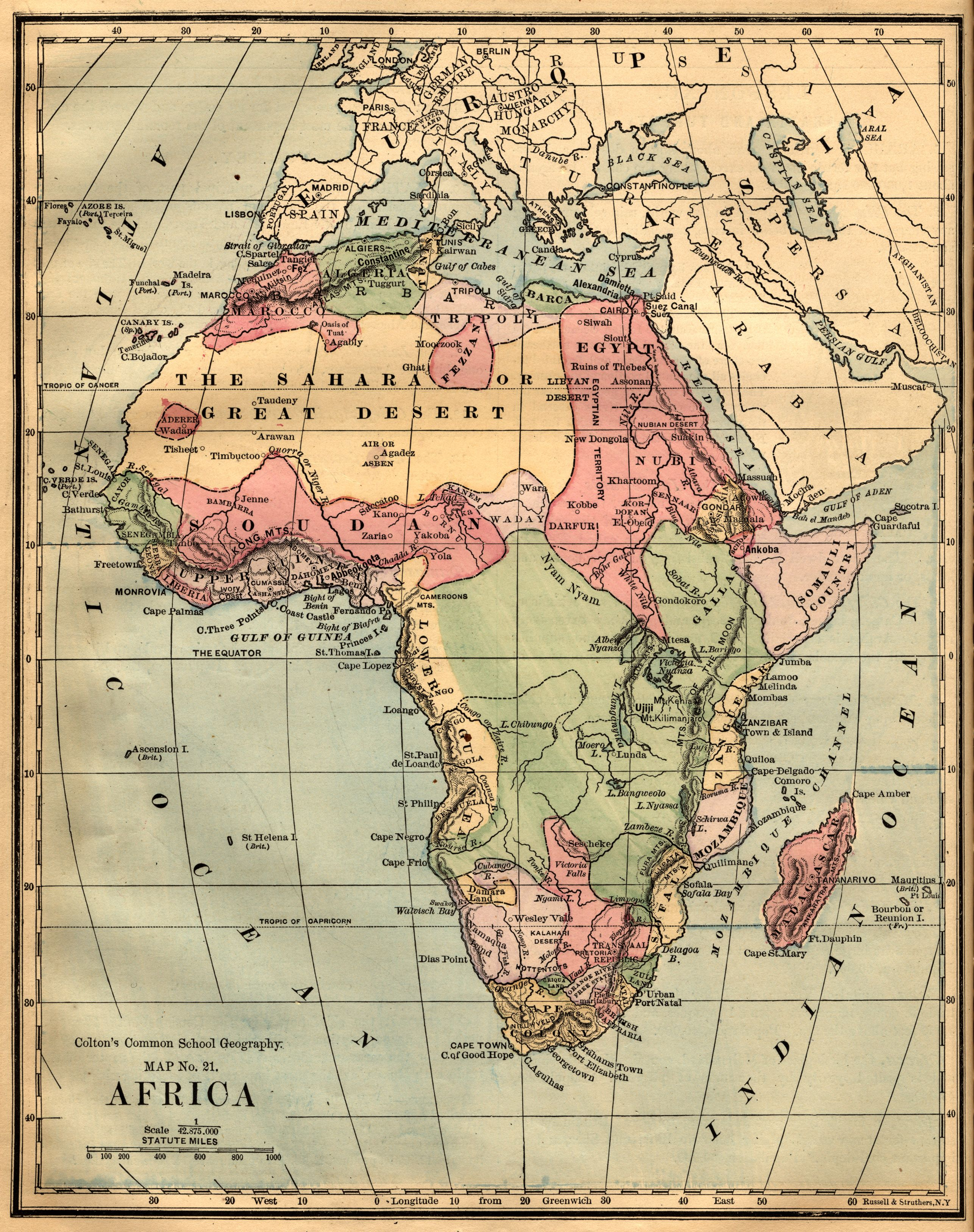 Vintage Africa Map Maine Wedding Pinterest Africa map and Craft