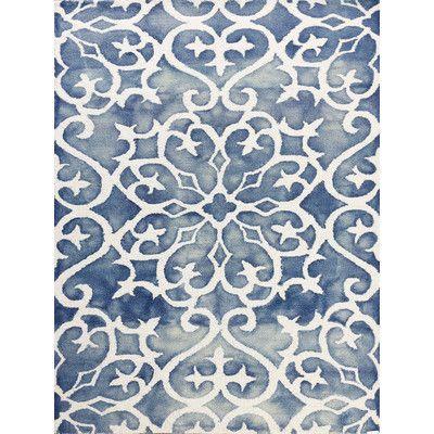 Amer Rugs Shibori Blue White Area Rug Reviews Wayfair
