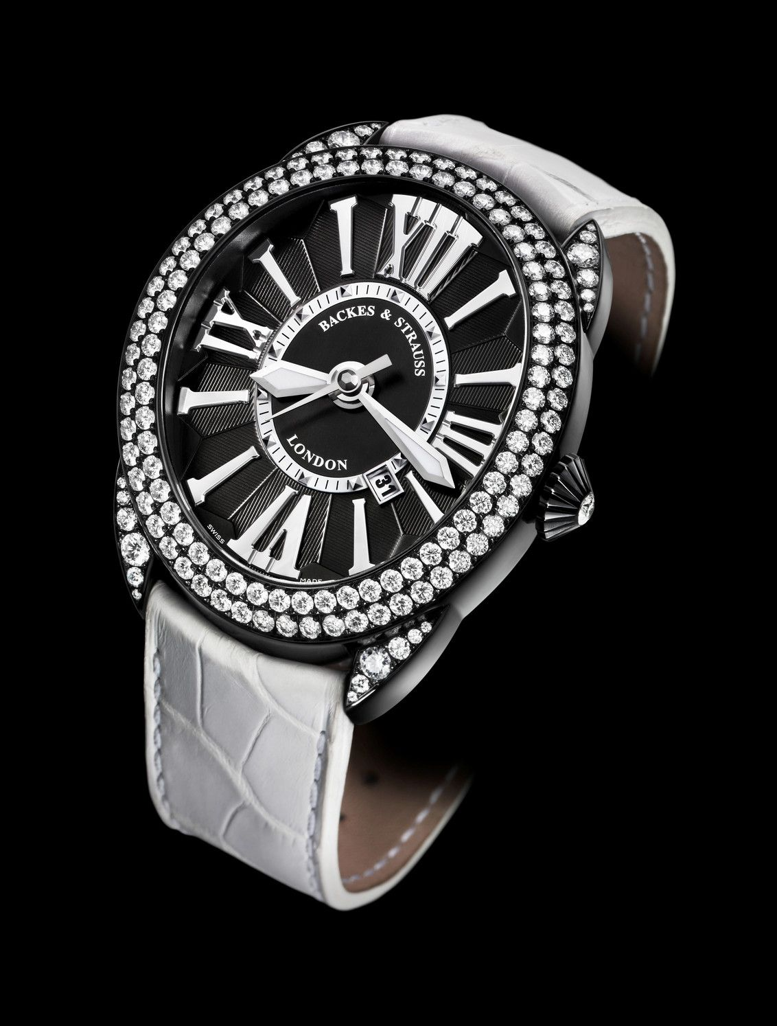 second blr product regent st stainless strauss dint s watches details ladies steel womens and women backes diamond