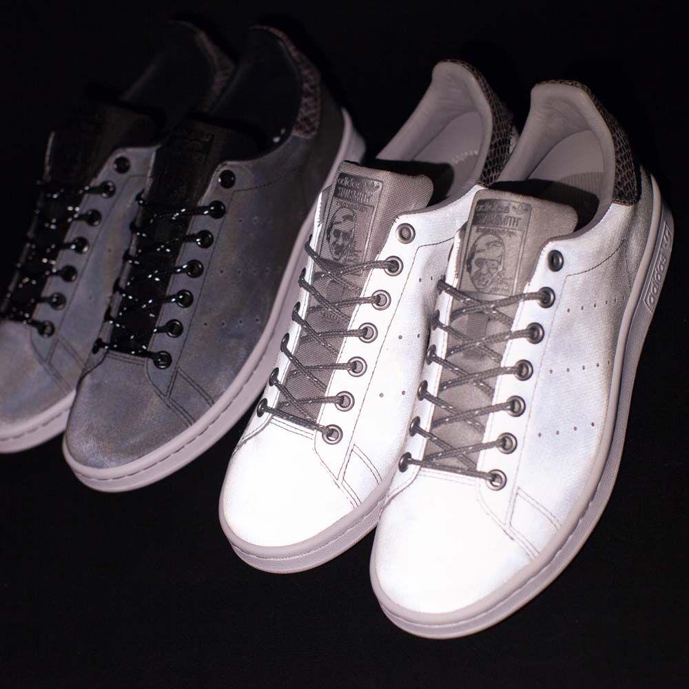 adidas stan smith silver reflective