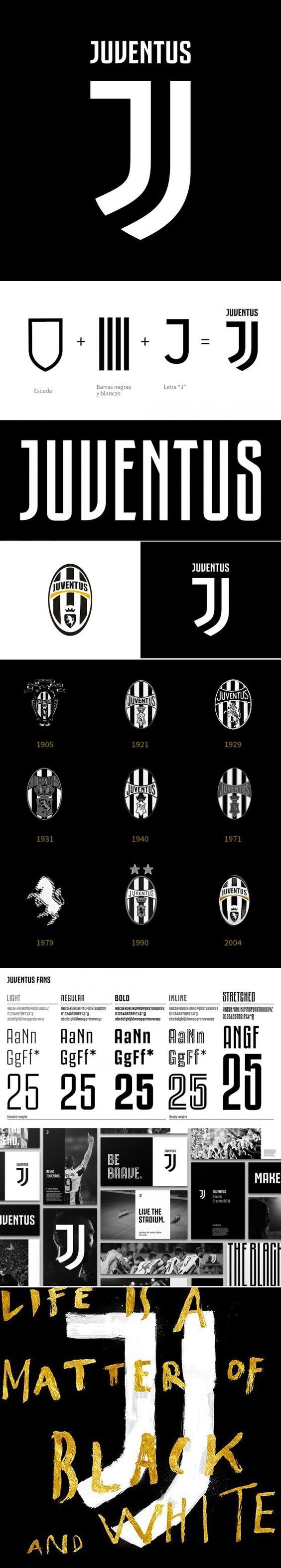 Search Juventus On Designspiration In 2021 Brand Guidelines Book Logo Design Typography Branding Design Inspiration